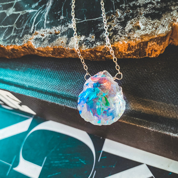 Good Vibes Aura Quartz Necklace