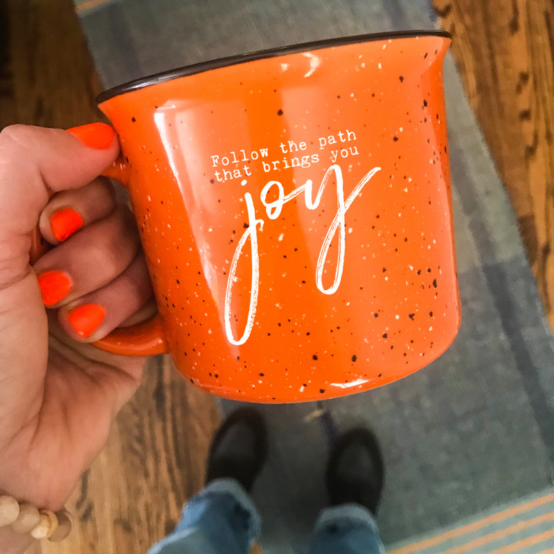 Follow The Path That Brings You Joy Camper Mug
