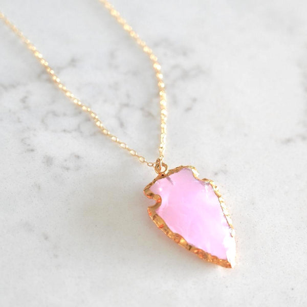 Pink Arrowhead Aim True Necklace
