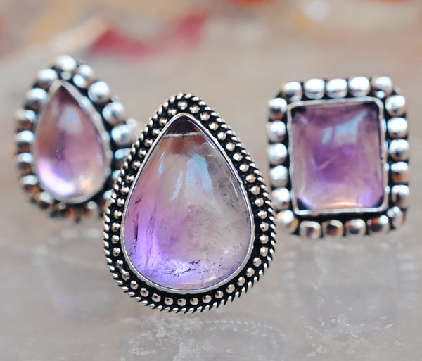 Ametrine Crystal Highest Self Ring