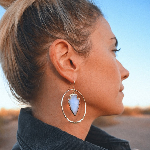 Purity Opalite Hoops