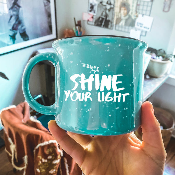 Shine Your Light Camper Mug