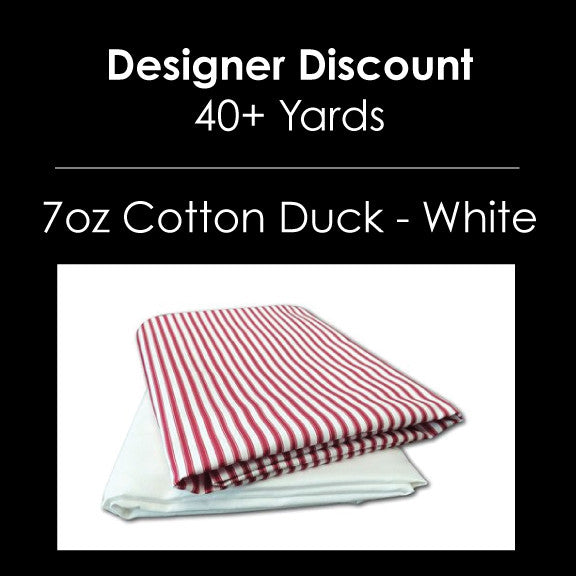 Designer Bulk - 7oz Cotton Duck White - 40+ Yards Custom Print