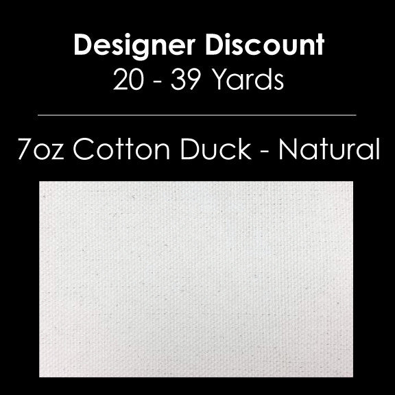 Designer Bulk - 7oz Cotton Duck Natural - 20-39 Yards Custom Print