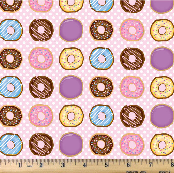 Glazed and Confused - Donut Fabric by the Yard - RootedUSA