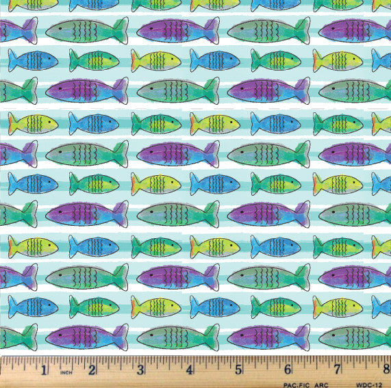 Happy Camper - Fishy Fabric by the Yard