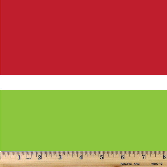 Holiday Red & Green Wide Stripe Trio Cotton Fabric - RootedUSA