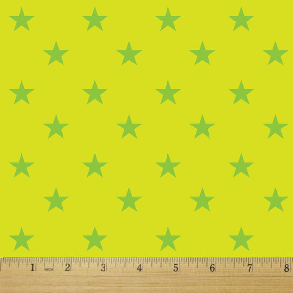Star Struck Sour Apple Cotton Fabric - RootedUSA