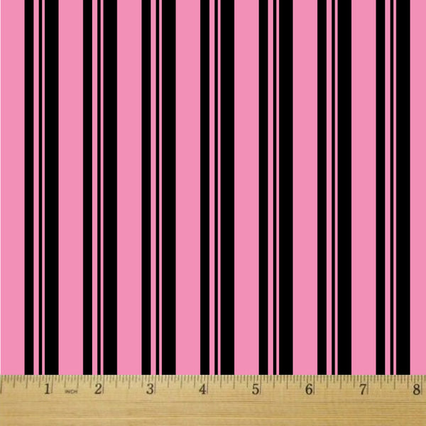 Gummy Stripes Licorice Cotton Fabric - RootedUSA