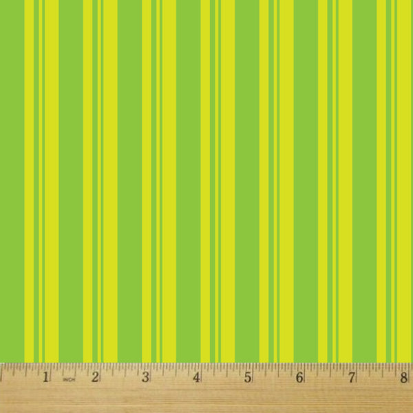 Gummy Stripes Sour Apple Cotton Fabric - RootedUSA