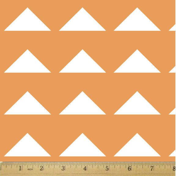 Scout Tangerine Triangles Cotton Fabric - RootedUSA
