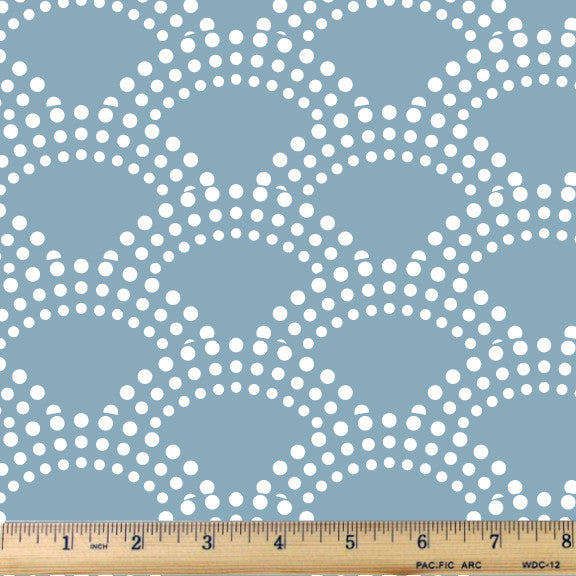 Ocean Sky Bubble Waves Cotton Fabric - RootedUSA