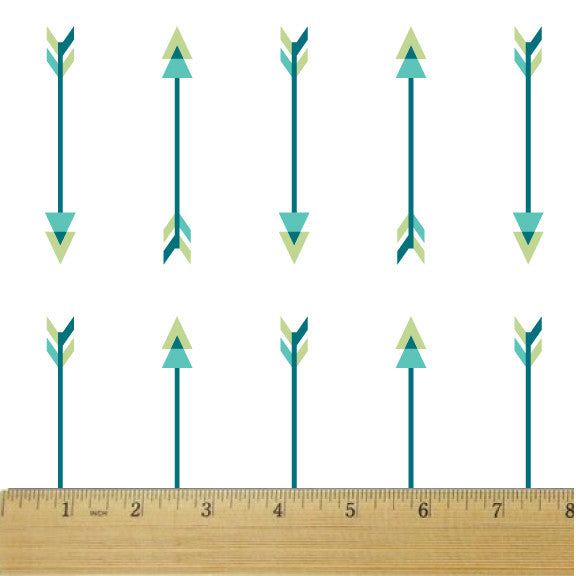Scout Opposing Arrows Large Aqua Cotton Fabric - RootedUSA