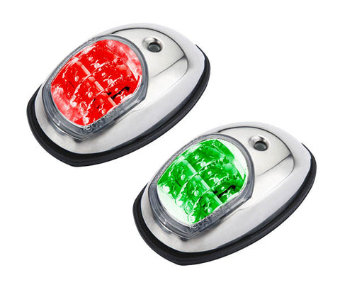 Boat Led Navigation Lights Pair Side Mounted Stainless