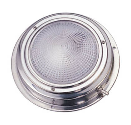 Stainless steel halogen bulb dome light 4""