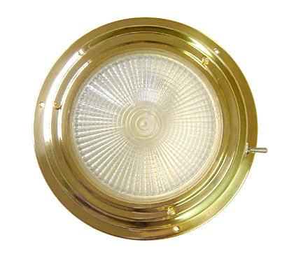 Polished brass halogen bulb dome light