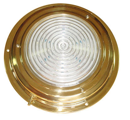 LED DOME LIGHT,TITAN BRASS 4""