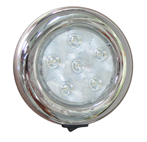 "DOME LIGHT,SS LED 4""D."