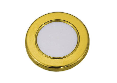 LIGHT,FLUSH MOUNT BRASS LED
