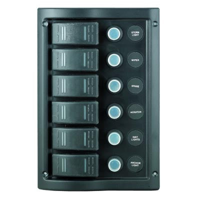 SWITCH PANEL,6 GANG W/PRF
