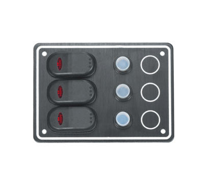 SWITCH PANEL,3X15A BREAKR