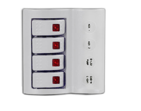 SWITCH PANEL,4 LED ROCKER