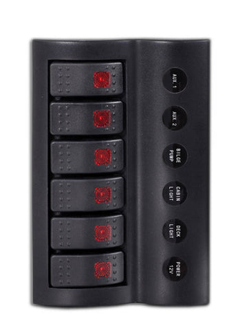 SWITCH PANEL,6 LED ROCKER