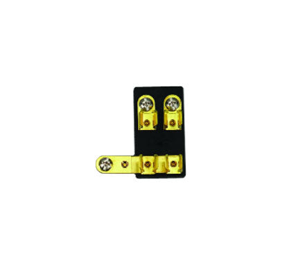 FUSE BLOCK,2 GANG BRASS