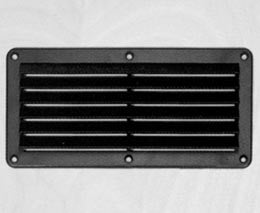 VENT,LOUVER, BLACK ABS