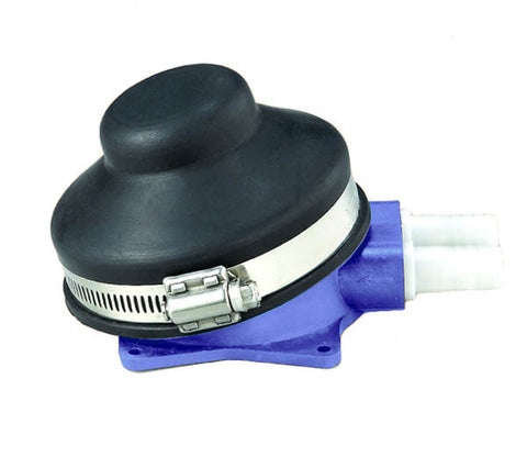 Foot operated fresh or salt water pump