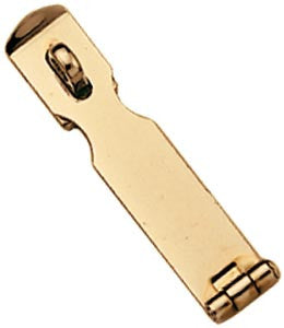HASP,POLISHED BRASS    4""
