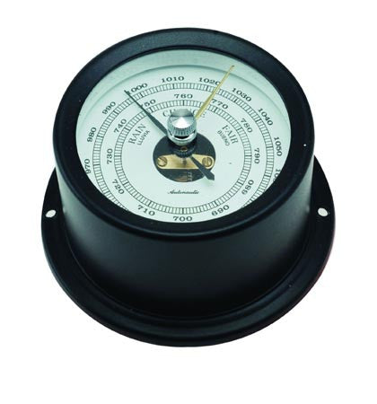 BAROMETER,BLACK ALU 50MM