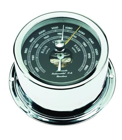BAROMETER,CHROME W/BLACK