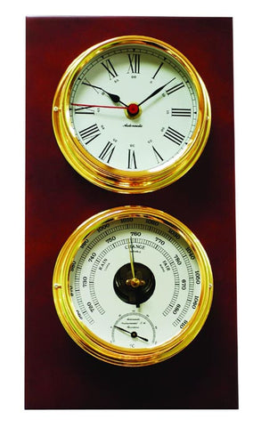 CLOCK & BAROM/THERMOMETER