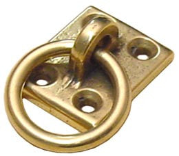 MOORING RING PLATE,BRASS