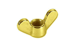 WING NUT,POLISHED BRASS
