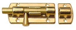 BARREL BOLT,POLISHD BRASS