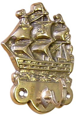 COATHOOK,GALLEON  BRASS