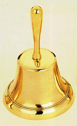BELL,HAND  SOLID BRASS