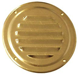 VENT,ROUND,POLISHED BRASS