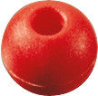 "PARREL BEAD,5/8""DIA  RED"