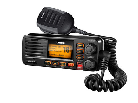VHF, UM380BK 25 Watt Fixed Mount Marine Radio with DSC