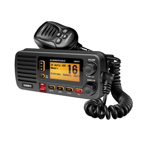 VHF, UM415BK Full Featured VHF Marine Radio