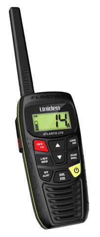 VHF, ATLANTIS 270 Handheld Floating Two-Way VHF Marine Radio