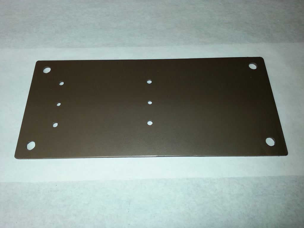 "Drive On / Ground Mount Plate - 8"" x 14 "" Steel Plate Only"