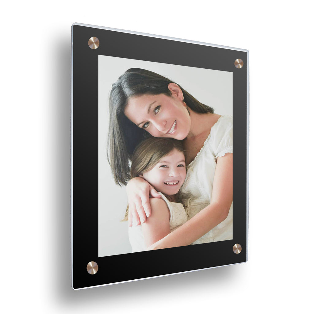Double Panel Floating Frame - Black