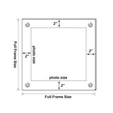 Double Panel Floating Frame - Clear