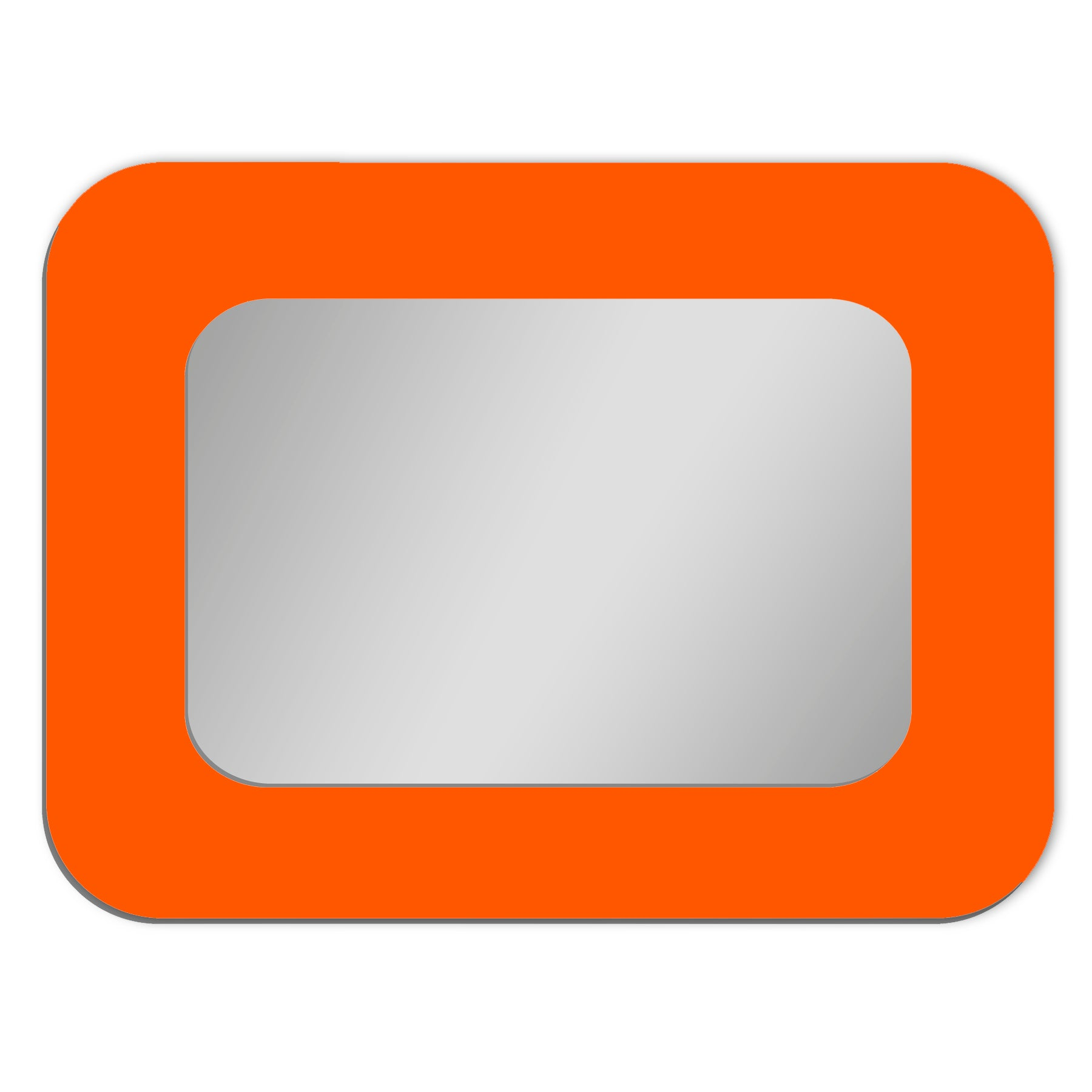 Frame Mounted Mirror - RECTANGLE Rounded | Glossy Gallery