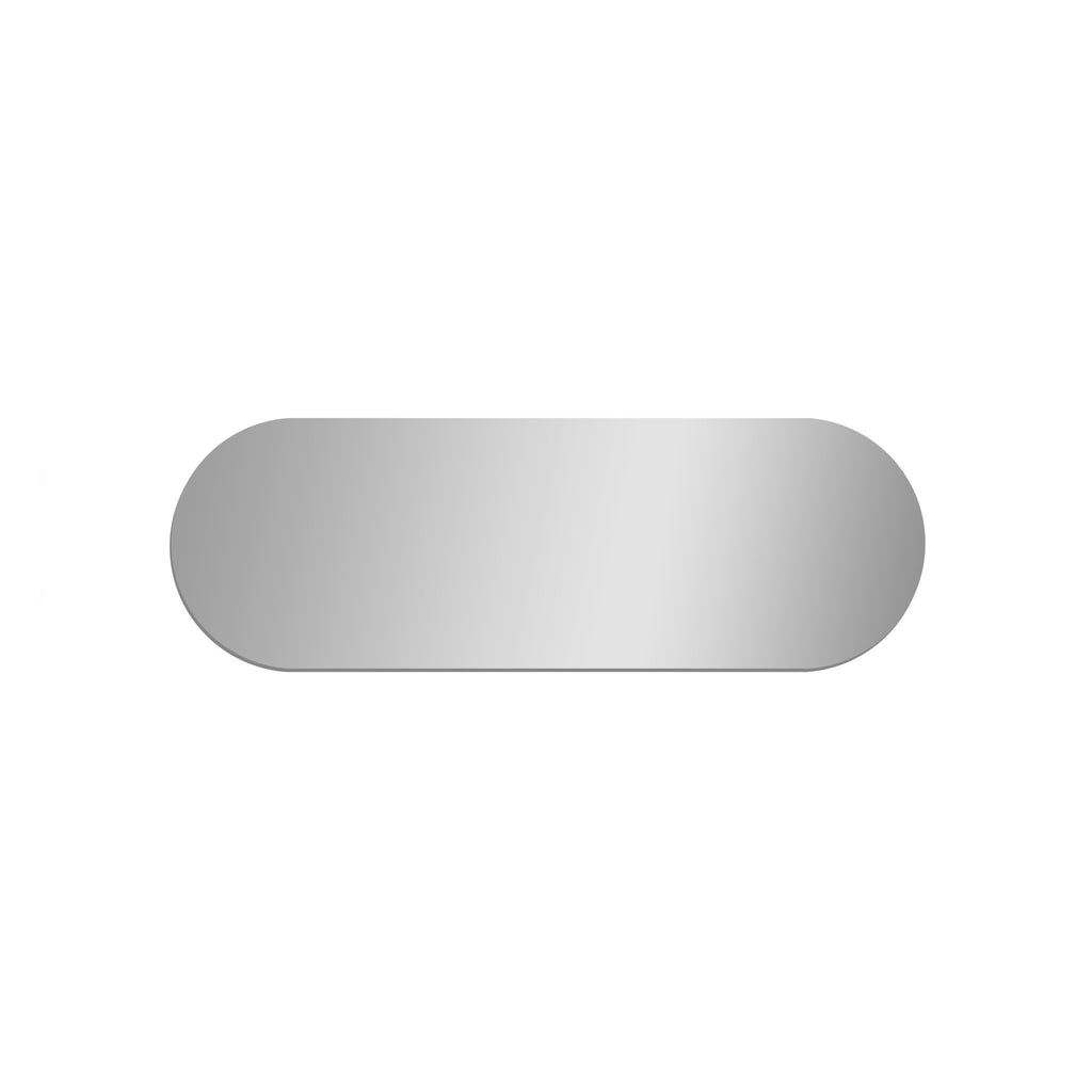 Long Rectangle Mirror with Rounded Ends