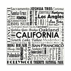 CALIFORNIA TYPOGRAPHY - White